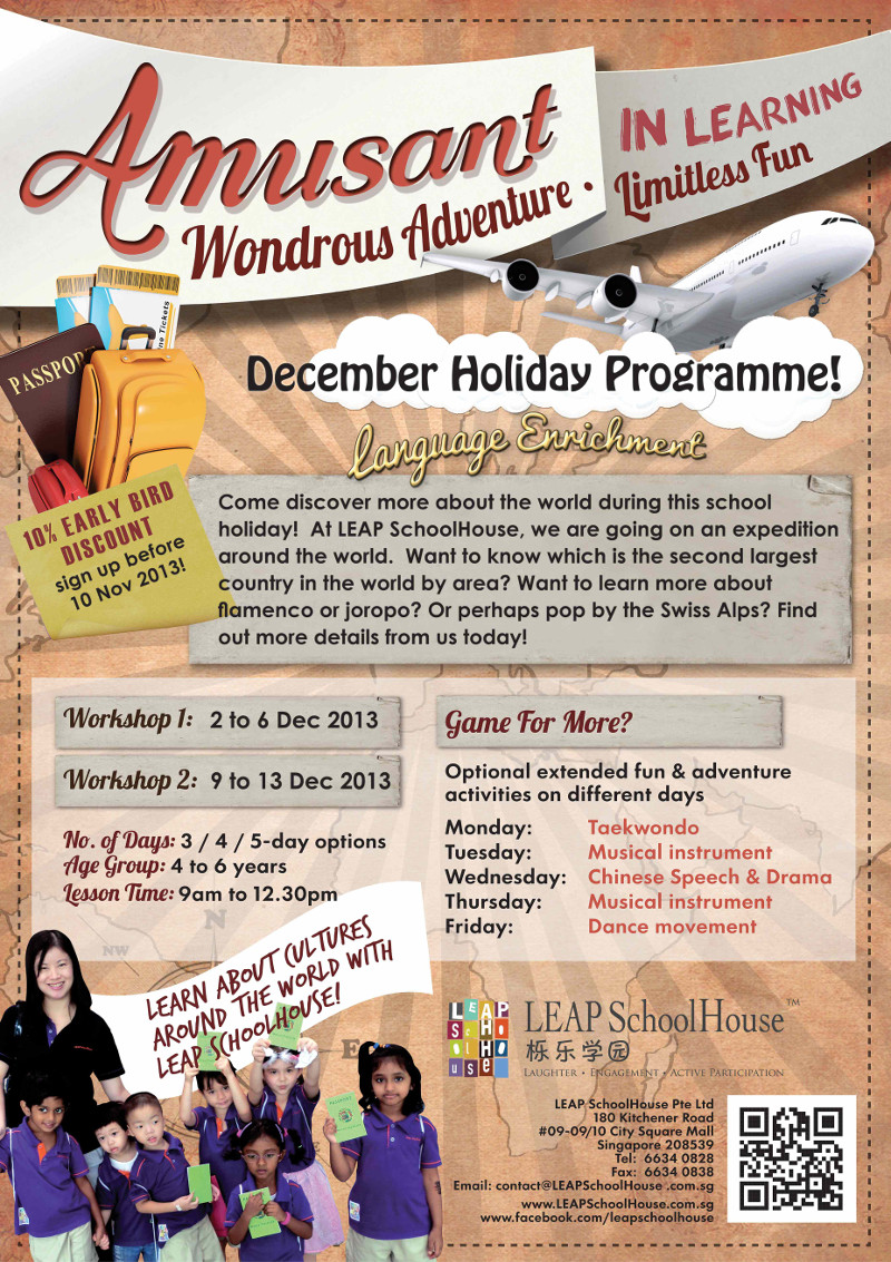 holiday programs for kids in singapore