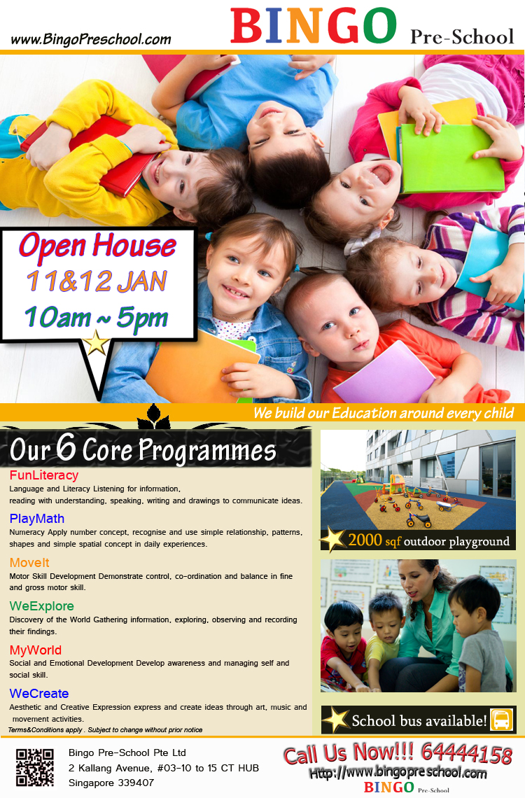 Bingo Preschool Open House