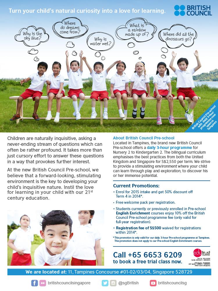 British Council Pre-school Free Trial Class