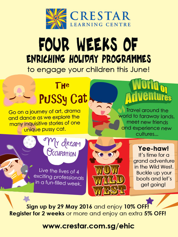Crestar June Holiday Programme 2016