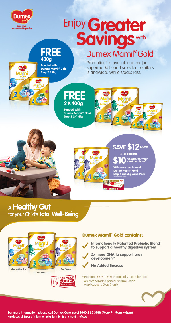 Greater Savings with Dumex Mamil® Gold!