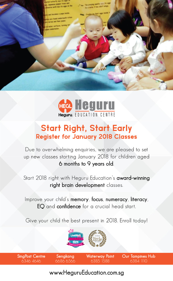 Heguru Education Registration for 2018 Classes