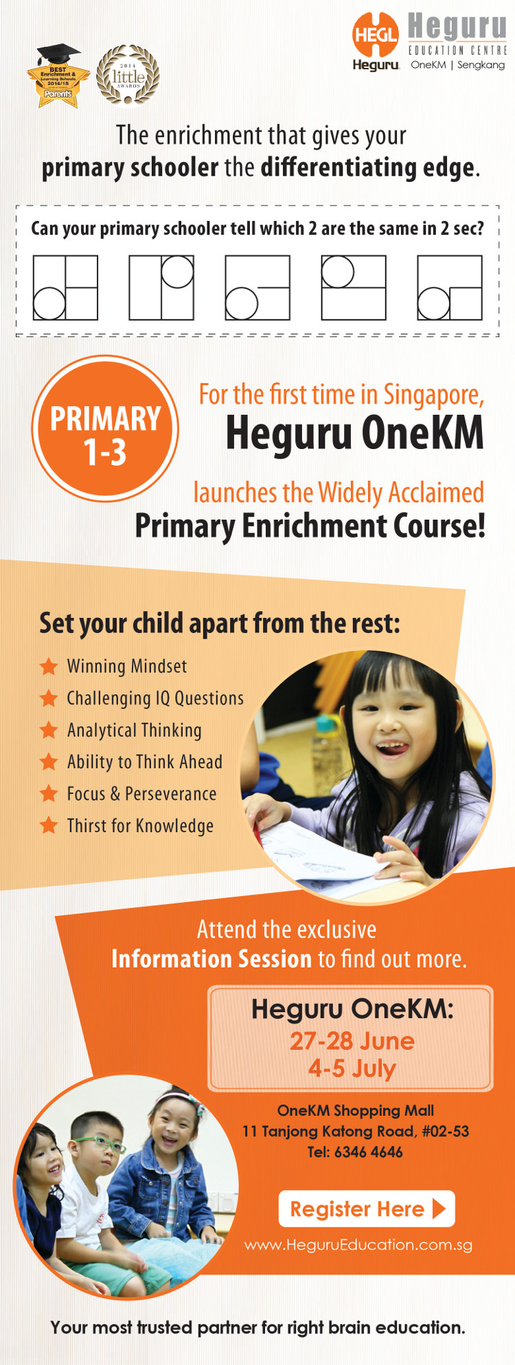 Heguru OneKM Primary School Enrichment Course