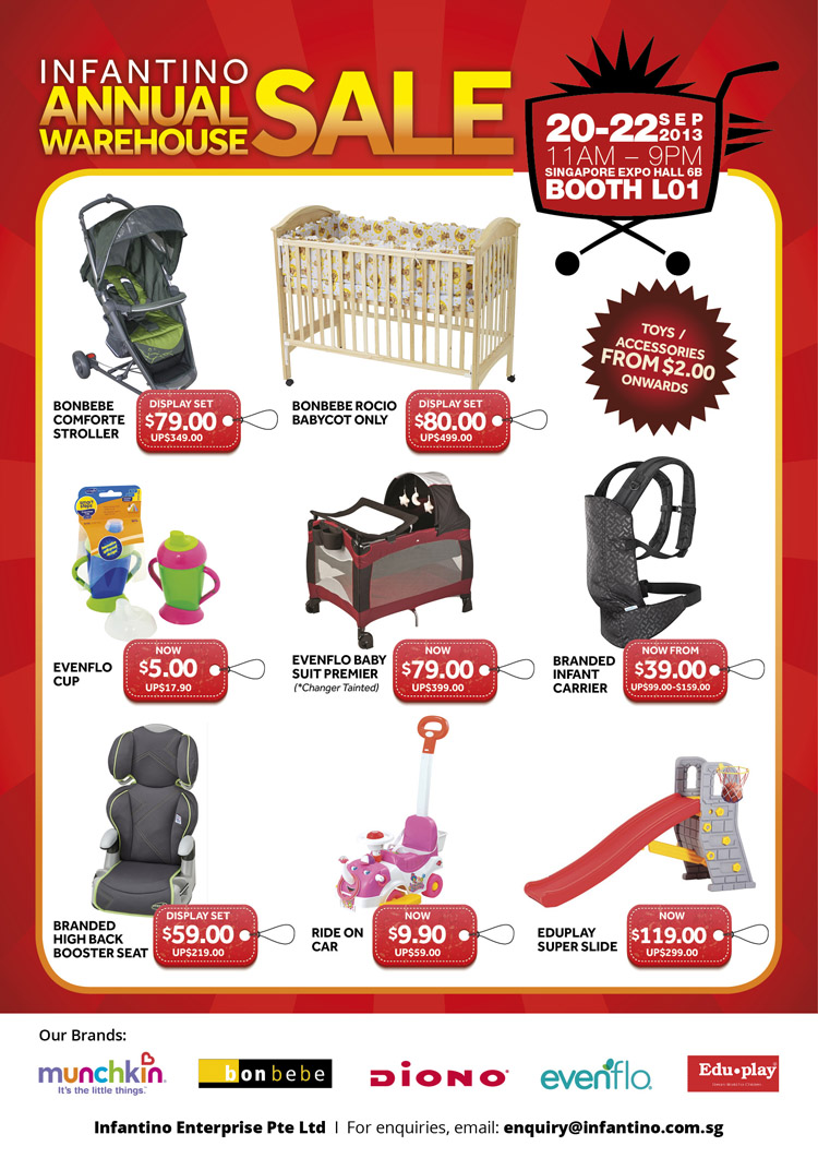 Infantino Annual Warehouse Sale 2013