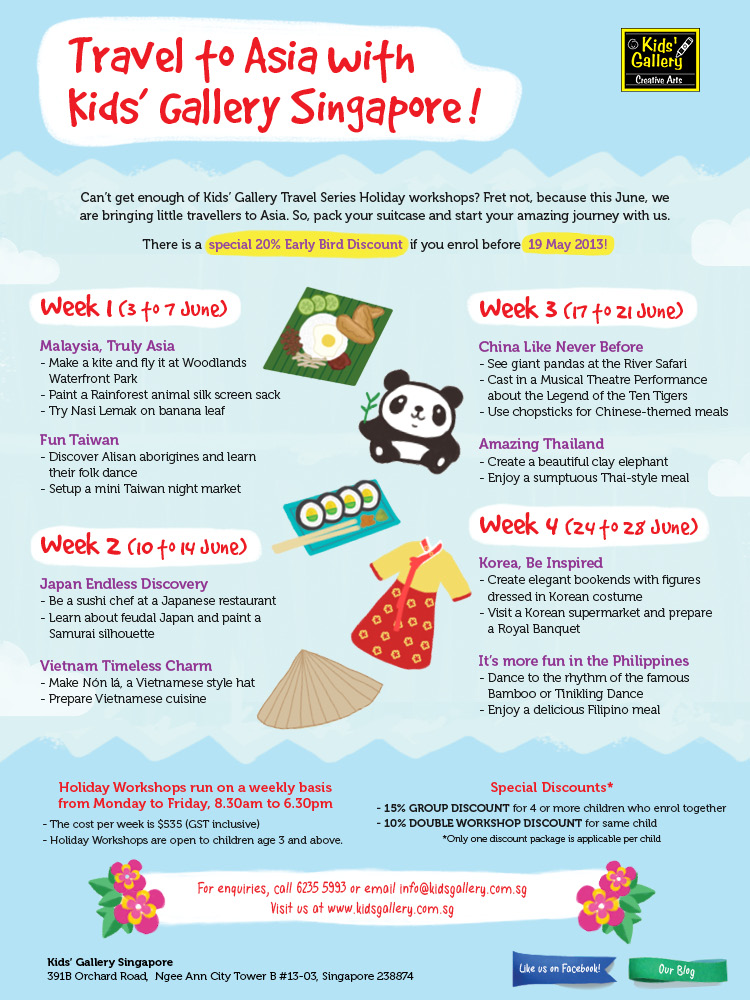 Travel to Asia with Kids' Gallery Singapore!
