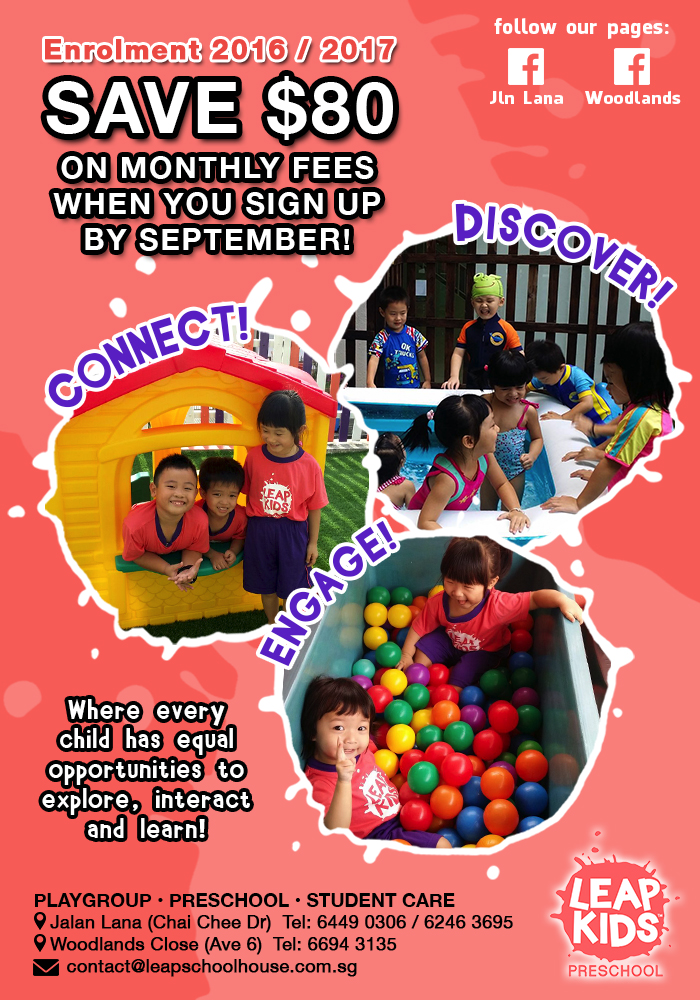 LEAP Kids Preschool 2016-2017 Enrolment