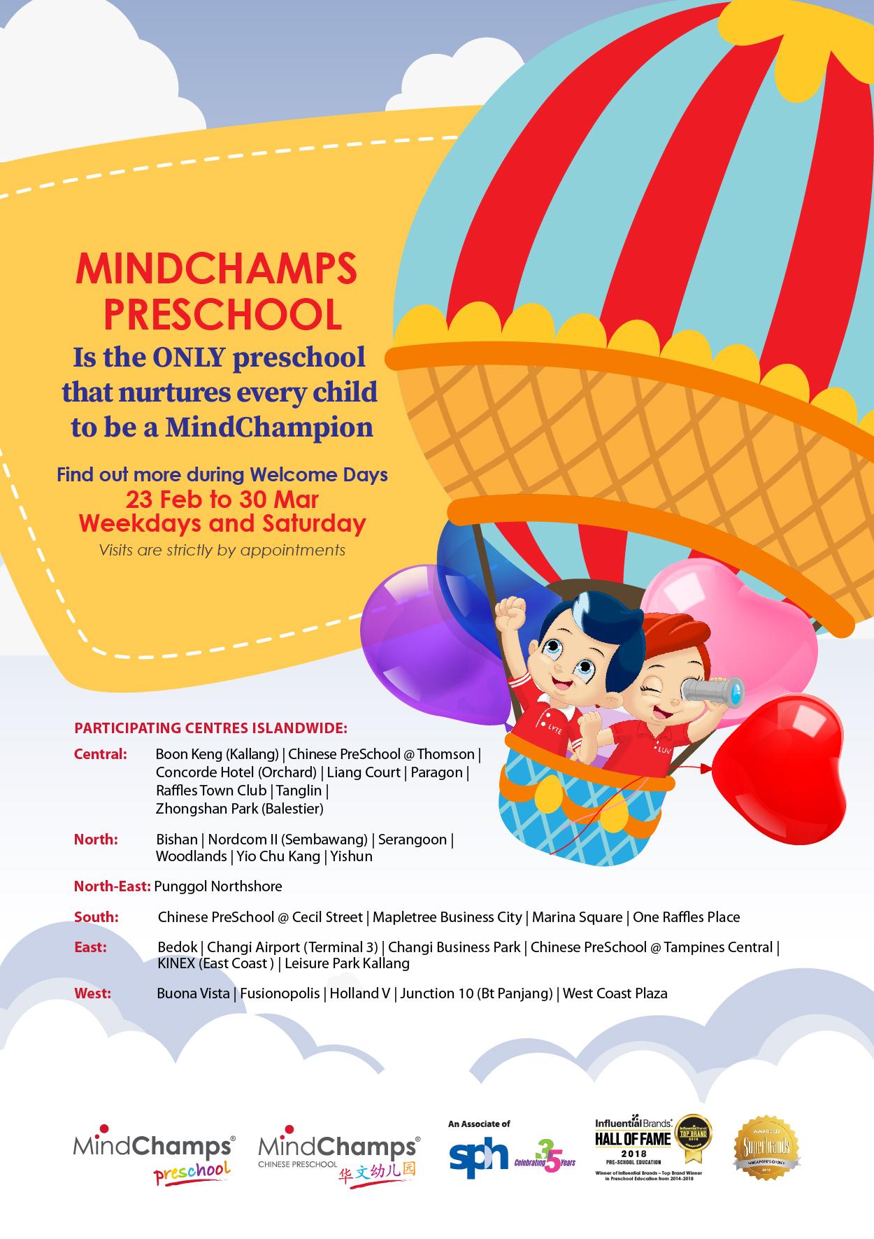 MindChamps PreSchool Welcome Day