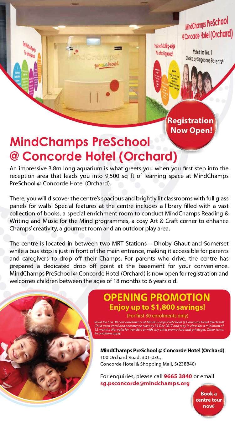 MindChamps Preschool New Centre Concorde Orchard