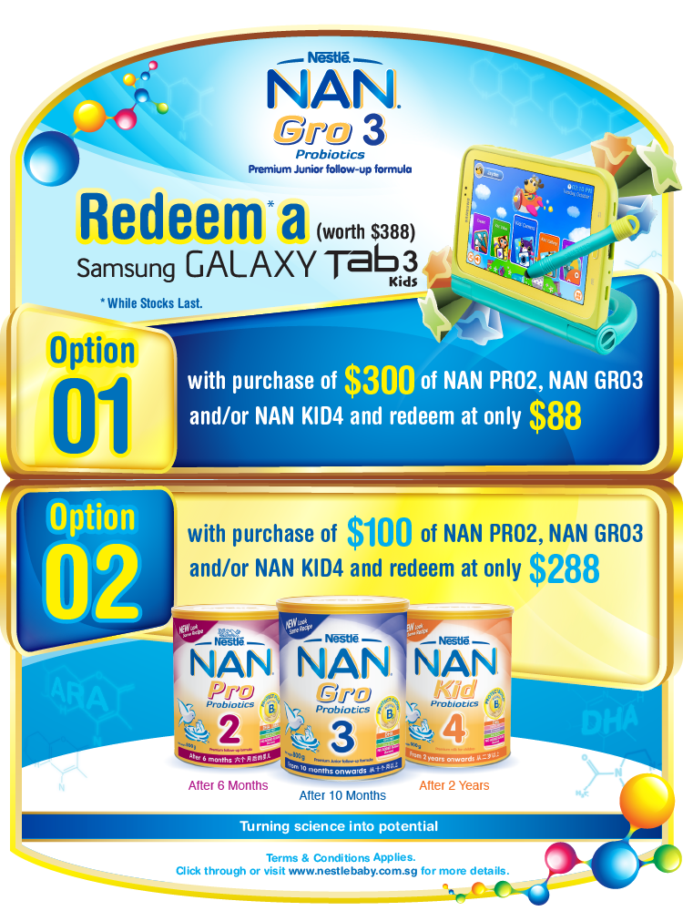 Samsung Galaxy Tab3 Kids with NAN GRO3