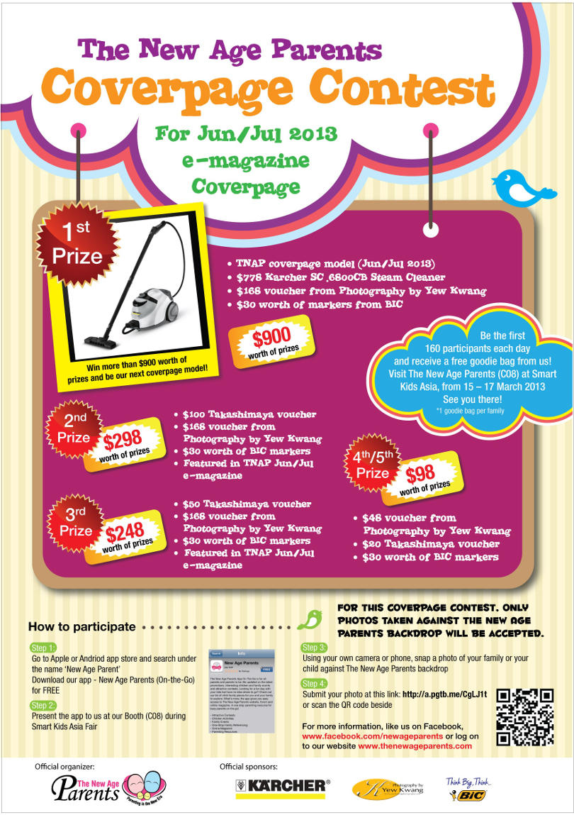 The New Age Parents Coverpage Contest for Jun/Jul 2013 online e-magazine