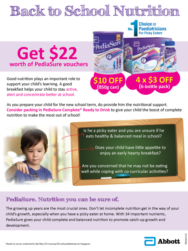 PediaSure Back to School Nutrition