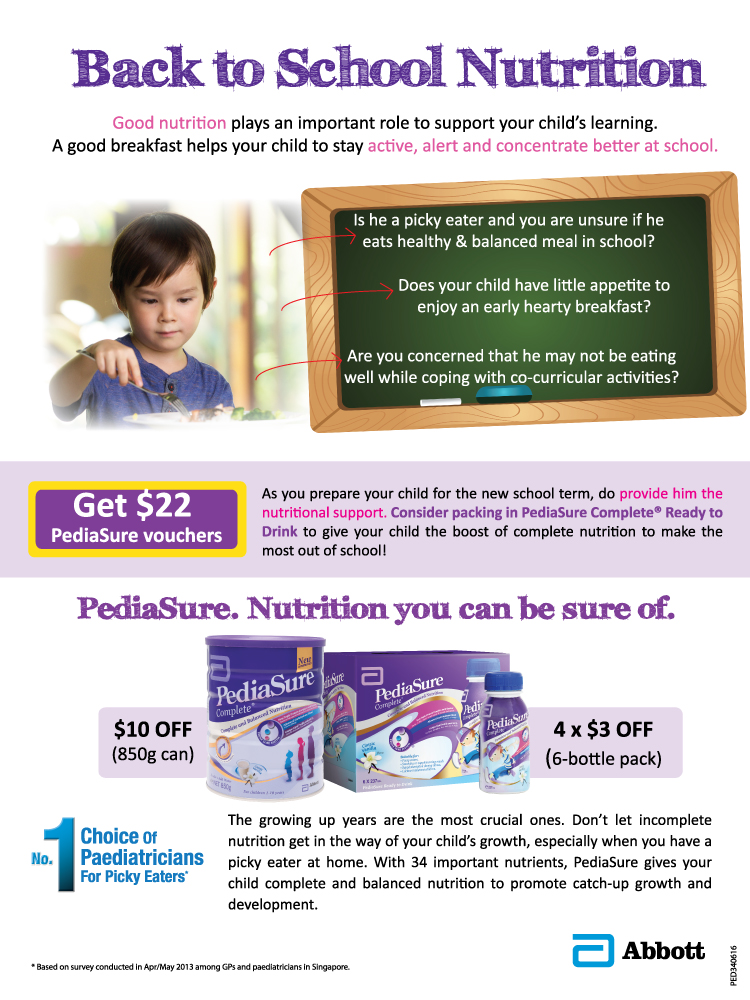 PediaSure Back To School Promotion
