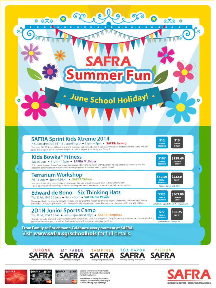 SAFRA June Holiday Activities