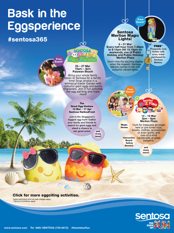 Bask in the Eggsperience this March 2016 at Sentosa