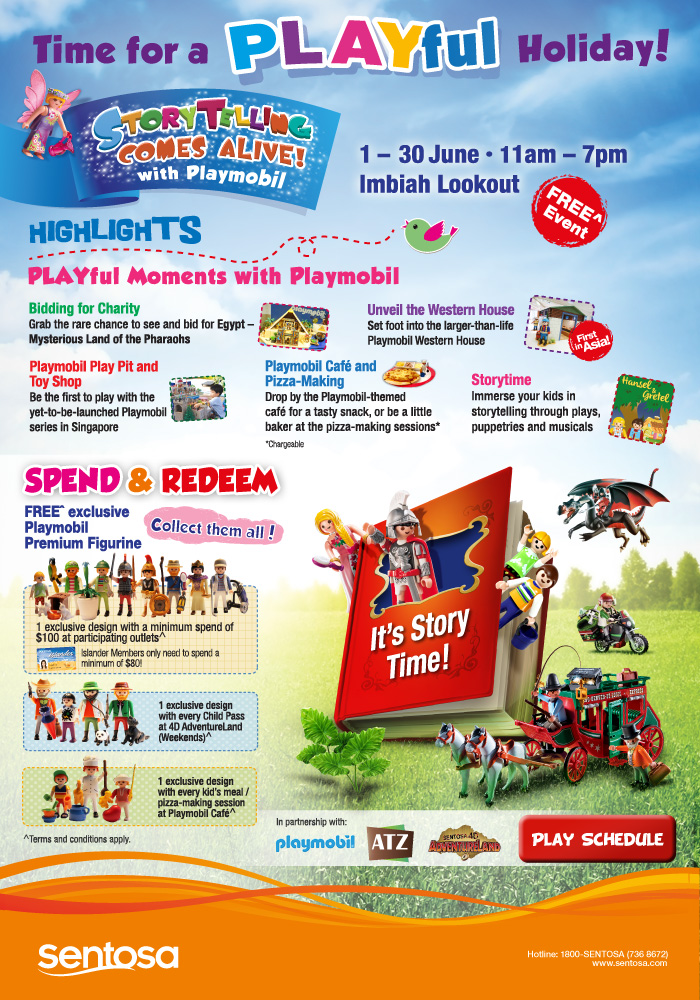 Storytelling Comes Alive! with Playmobil at Sentosa