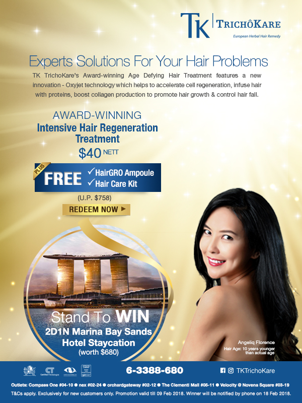 Experts Solutions For Your Hair Problems: TK TrichoKare's Award-winning Age Defying Hair Treatment
