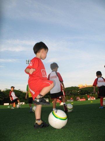 Ashton Controlling a Soccer Ball