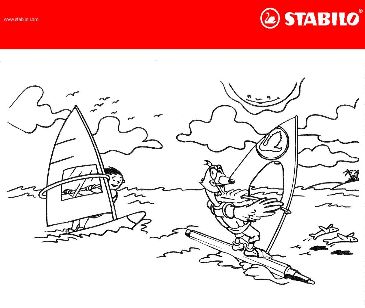 Stabilo Colouring Template